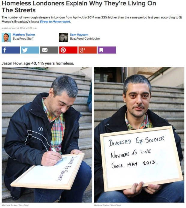 Homeless Londoners Buzzfeed UK Feature